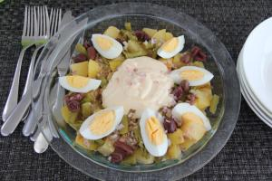 potato egg tuna salad