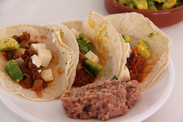 Tacos and frijoles