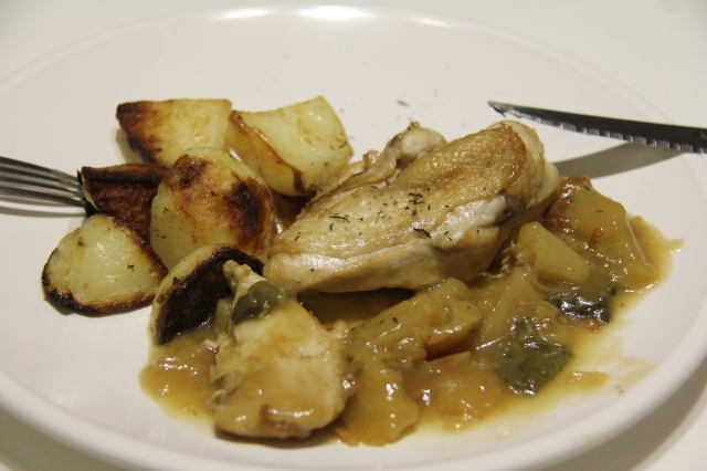 chicken with apple and potatoes