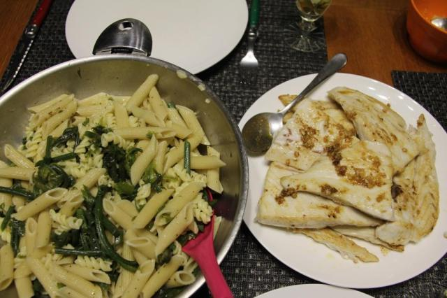 nama pasta with garlic butter wahoo