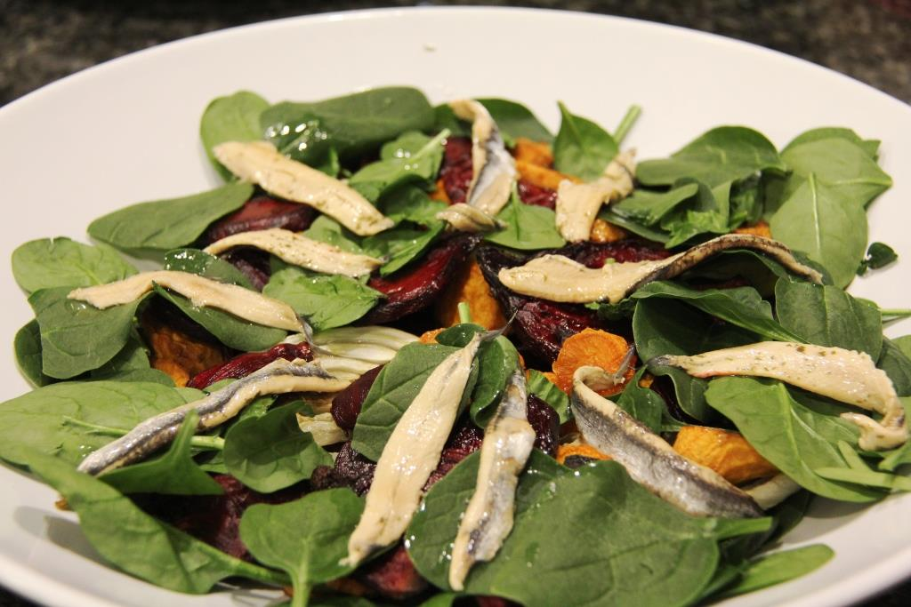 white anchovy winter salad