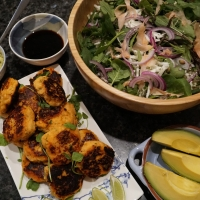 Going healthy: Sweet potato fish cakes and Japanese style slaw