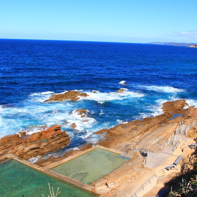 Blue pools, Bermagui. NSW